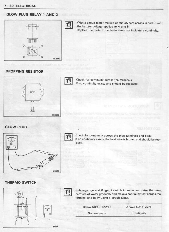View Topic Wiring Diagram For Te Diesel Up Glow Plugs Image